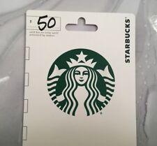 New $50 Starbucks Coffee Gift Card
