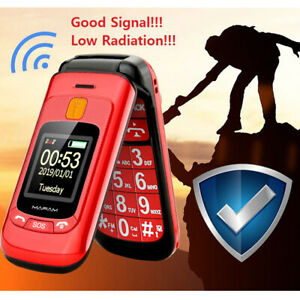 "Mafam Flip Senior Mobile Phone Dual Display Touch Handwriting 2.4"" Large Screen"