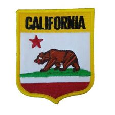 California state Bear Logo California flag Iron On Patch Sew on Embroidered New