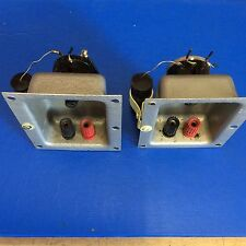 2 x Vintage Speaker Terminal Plate With 2x Binding Post