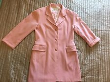 Max Mara Pink Virgin Wool Coat Blazer Sz 16 UK