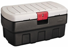 Storage Tote Organizer Bin 35 Gallon Rugged Heavy Duty Action Packer Rubbermaid