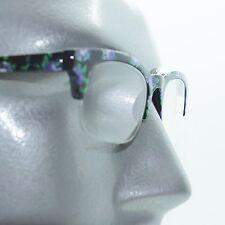 Retro Purple Floral Flower Frame 60's Bottomless Reading Glasses +3.00 Strength