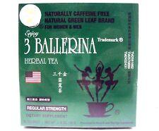 Diet Tea For Men And Women 30 Tea Bags Drink Regular Strength, Three 3 Ballerina