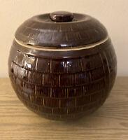 "1930's VINTAGE McCOY HONEYCOMB BALL SHAPED COOKIE JAR * 8"" Around"
