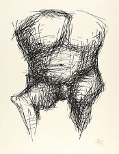 GUSTAV SEITZ  - Catchertorso, Knie nach links - Lithografie 1968