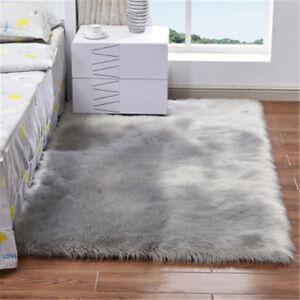 Shaggy Fluffy Rugs Anti-Skid Area Rug Office Room Carpet Home Bedroom Floor Mat