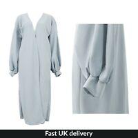 UK Womens Ladies Cuffed Long Length Casual Duster Jacket Coat