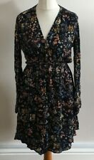MNG SUIT Size 8 Blue Dress With Multicoloured Floral Print, BNWT