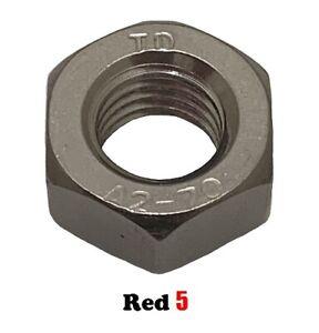 M3 (3mm) Hex Lock Nut (Half Nut) - Stainless Steel G304 - Metric Coarse Thread