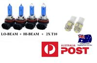 VY VZ Crystal White Projector Headlight Bulbs High  Low Berlina Calais HSV SS VU