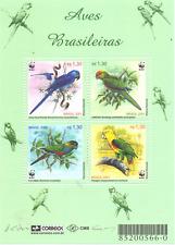 WWF BRAZILI # 295 Sheet # Mnh Vögel / Birds Papageien-Parrots [027]