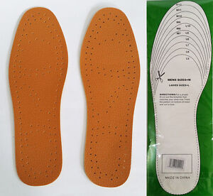 New Shoefresh Super Synthetic Leather Insole Pair for Men & Women UK Stock