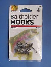 Danielson Baitholder Hooks LOT of 12 Packages #HXBBR-4  Size 4  120 Hooks  NEW