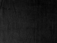 BLACK COTTON SPANDEX STRETCH NEEDLECORD CORDUROY DRESSMAKING CRAFT FABRIC P~M
