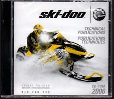 2006 SKI-DOO SNOWMOBILE TECHNICAL PUBLICATIONS MANUAL CD-ROM NEW 219 700 712