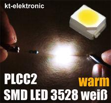 100 Stück SMD LED 3528 PLCC2 warm weiß / warm white SMDs