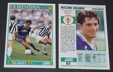 83 MASSIMO ORLANDO FIORENTINA FOOTBALL CARD 92 1991-1992 CALCIO ITALIA SERIE A