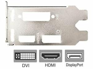 MSI GTX 1650 Low Profile Bracket for Video Graphics Card DVI HDMI DisplayPort