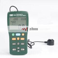 TES-132 Solar Power Meter tester min/max/avg 99 Datalogging SD card USB