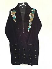 Micro Velvet Hand Embroidered Asian Ready Made Shirt/Kurti Size