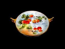 "Early 1900's Fruit Gooseberries "" ROSENTHAL BAVARIA "" Painted Tab Handle Plates"