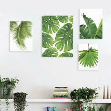 Watercolor Palm Leaf Floral Prints Background Wall Home Decorative Canvas Mural