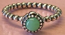 PANDORA | BIRTHDAY BLOOMS CHRYSOPRASE RING *NEW* 190854CH MAY AUTHENTIC 56 60 US