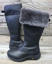 UGG Australia Womens Miko Black Grey Tall Snow Rain Waterproof Boots US 7 NEW!