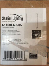 Sea Gull Lighting 61160EN3-05 Oslo 1 Light 4 inch Chrome Pendant Ceiling Light