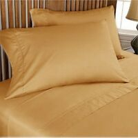 Gold Solid AU Choice Bedding Collection 1000 TC Egyptian Cotton Select Size