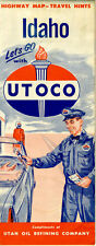 1958 Idaho Road Map from Utah Oil Refining Co. (UTOCO)