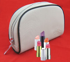 New VINTAGE LACOSTE Cosmetics Make Up Bag Pouch Classic 2.3  Beige
