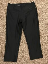 Nike Dri Fit Womens L Black Polyester Capris Stretch A2