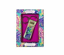LILLY PULITZER KEY FOB Exotic Garden Logo Keychain with Gift Box NEW!