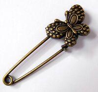 Bijou broche épingle couleur bronze Papillon / Butterfly brooch pin bronze jewel
