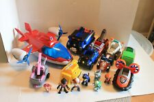 PAW PATROL LOT PLANE TRUCK VEHICLES ATV POLICE ALONG WITH THE FIGURES PUPS NICE