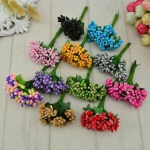 12 pcs Sugar handmade artificial flowers Cheap wedding decoration wreath needlew