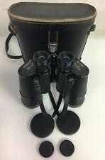 VINTAGE TASCO Fully Coated 312 Binoculars 10X50 W/Leather Case JAPAN