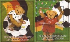 """Gambia - Teddy Bears """"World Cup"""" Stamps - Two Souvenir Sheets MNH"""