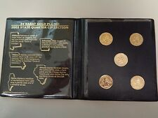 2003 Gold Plated First Commemorative Mint State Quarter Coin Collection