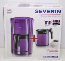 Severin KA 9233-116 Kaffeeautomat mit 2 Thermokannen, lila/schwarz