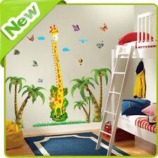 Girafe Hauteur Tableau Autocollant Mural Animal Arbre Crèche Bébé