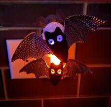 Bath & Body Works Double Bat Purple Orange Nightlight Wallflower Plug In Flocked