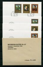 Liechtenstein no 881-883 2x FDC + 1x MK shoots 2.9.1985 - Painting (134955)