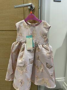 Girls Butterfly Monsoon Dress 18-24