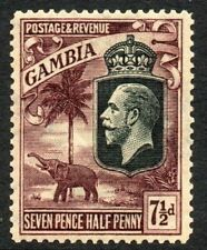 GAMBIA Stamps 1922  SG 119  7½d Purple/Yellow Wmk MCCA  Mounted Mint