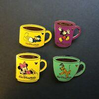 WDW - Hidden Mickey Collection - Coffee Mugs - 4 Pin Set Disney Pin 47150