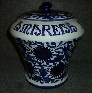 Vaso Amarena Fabbri Bologna AMARENA FABBRI BOLOGNA Vase Krug Deckeldose 2,8 L