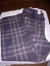 Unbranded Men's Woven Flannel Sleep pajama plaid gray Pants size 2x large